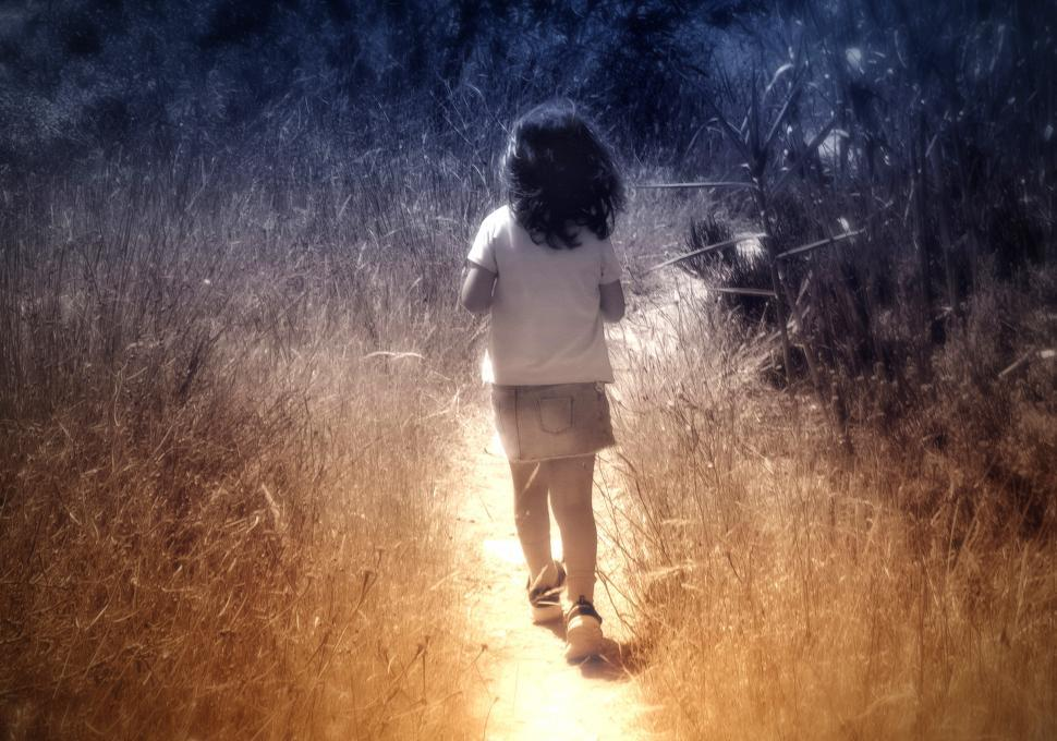 Download Free Stock HD Photo of Child Walking Alone - Little Girl  Online
