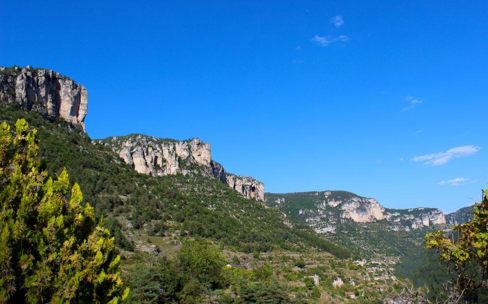 Download Free Stock HD Photo of Typical Landscape in Gorges du Tarn - Southern France Online