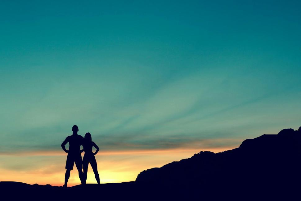 Download Free Stock HD Photo of Couple on mountain  Online