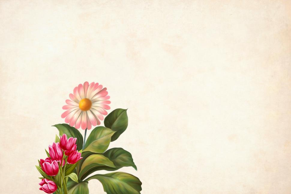 Download Free Stock HD Photo of flower Background - Green Leaves and Two Types Online