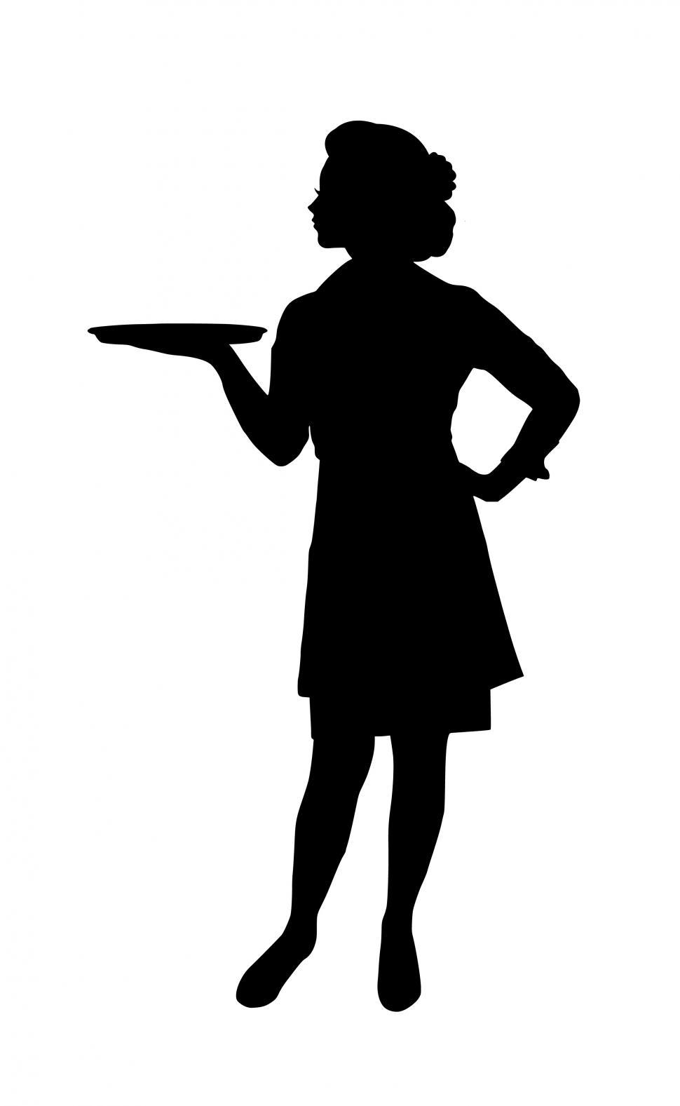 Download Free Stock HD Photo of waitress Silhouette  Online