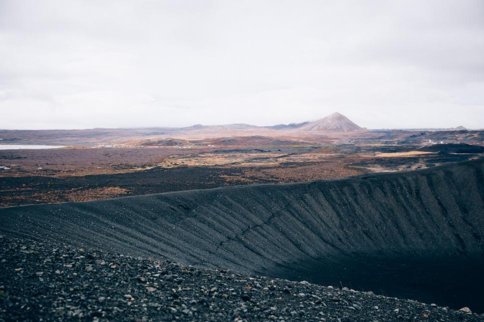 Download Free Stock HD Photo of Black sand volcanic hills Online