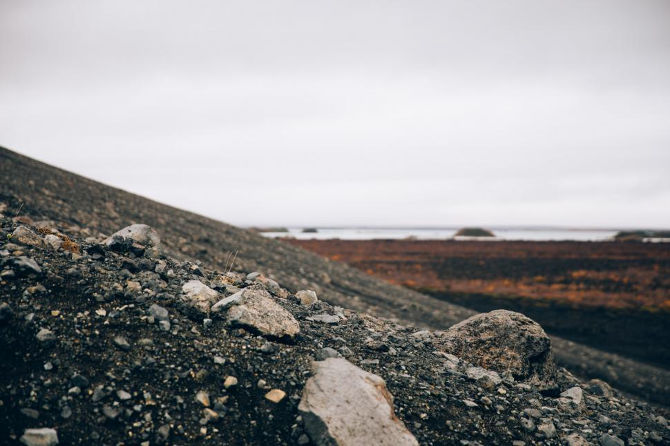 Download Free Stock HD Photo of Crumbling volcanic hillside Online