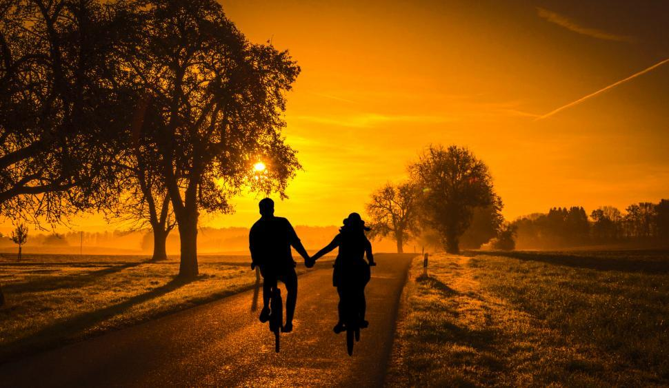 Download Free Stock HD Photo of couple dating cycle  Online
