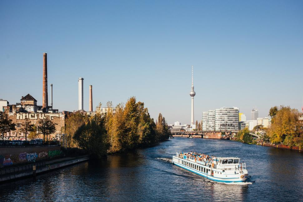 Download Free Stock HD Photo of Boat in a river in Berlin Online