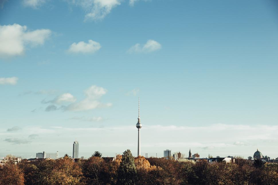 Download Free Stock HD Photo of Fernsehturm television tower in central Berlin, Germany Online