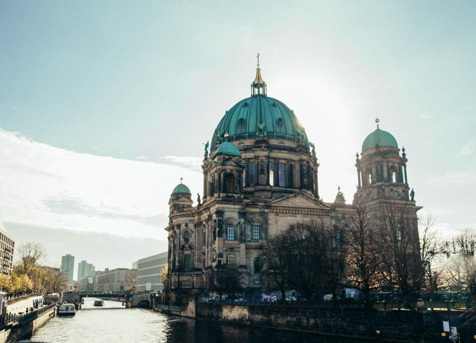 Download Free Stock HD Photo of Berlin Cathedral in sunshine Online