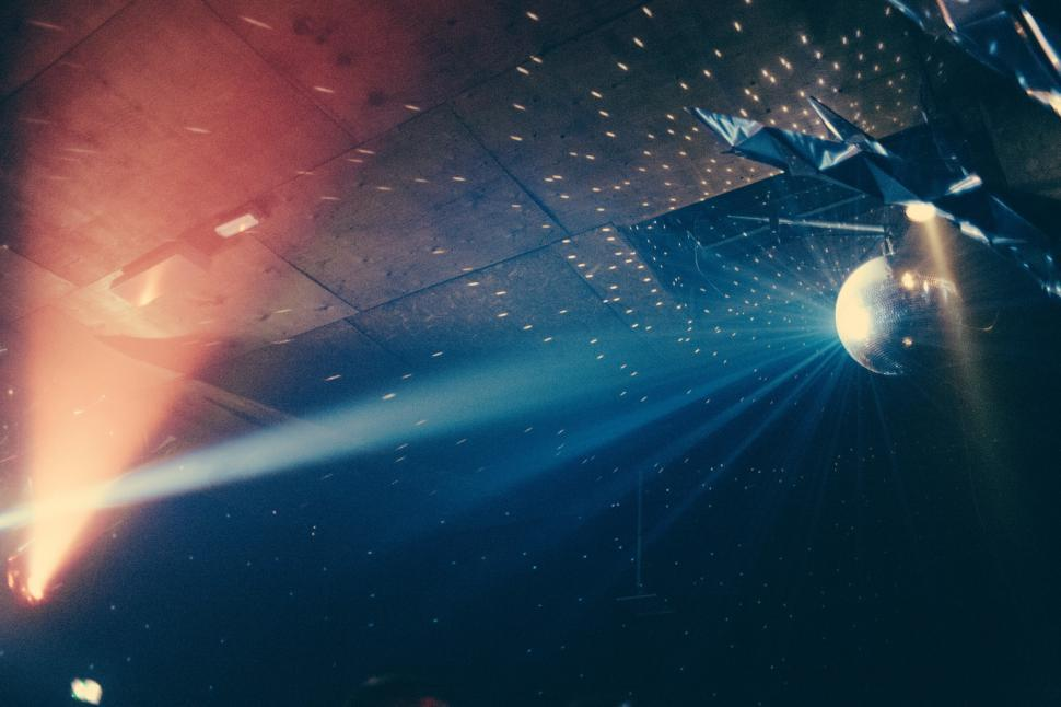 Download Free Stock HD Photo of Shining disco ball in a discotheque Online