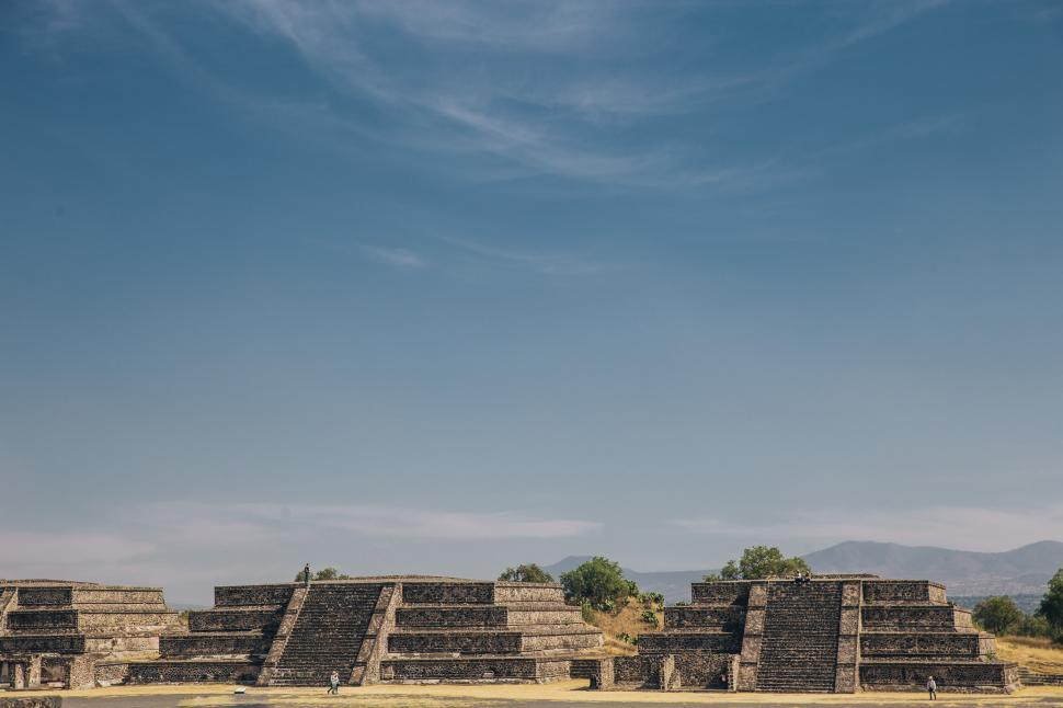 Download Free Stock HD Photo of Teotihuacan temples in the State of Mexico, Mexico Online