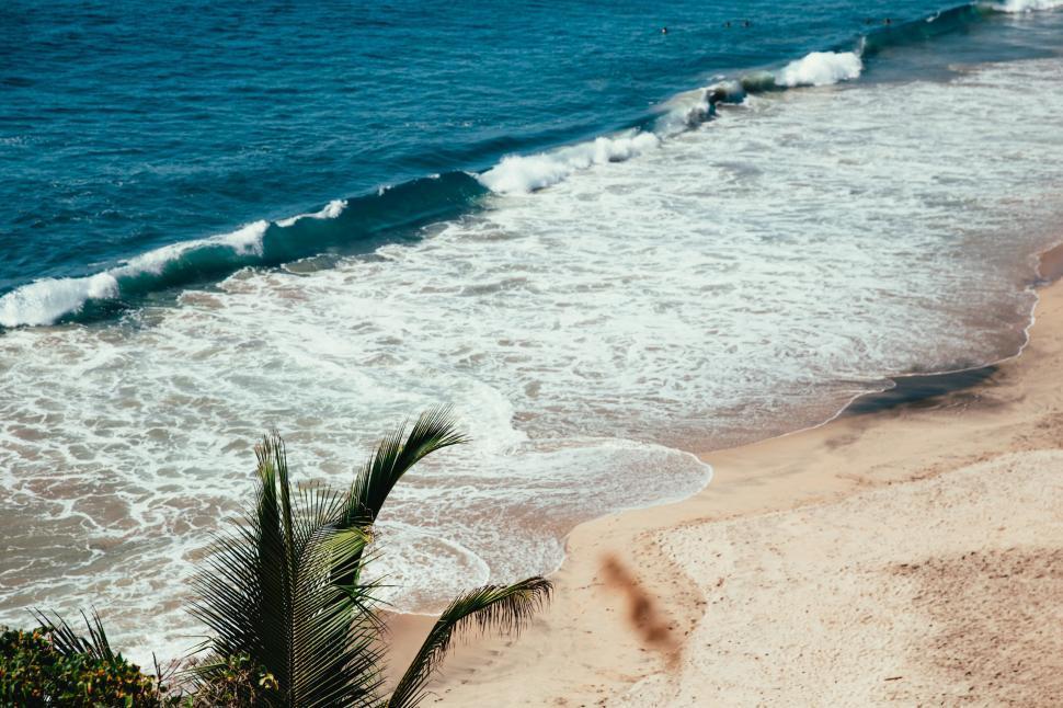 Get Free Stock Photos of Ocean waves crashing on sandy beach Online