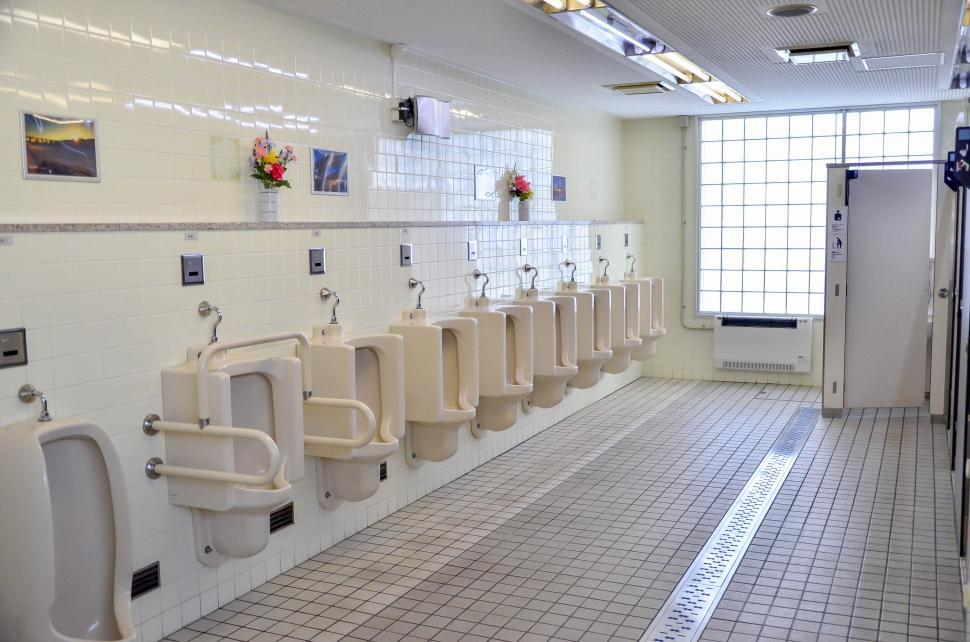 Download Free Stock HD Photo of Japan Toilet Interior, Public Restroom Online
