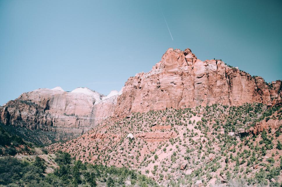 Download Free Stock HD Photo of Panoramic view of Arizona desert cliffs Online