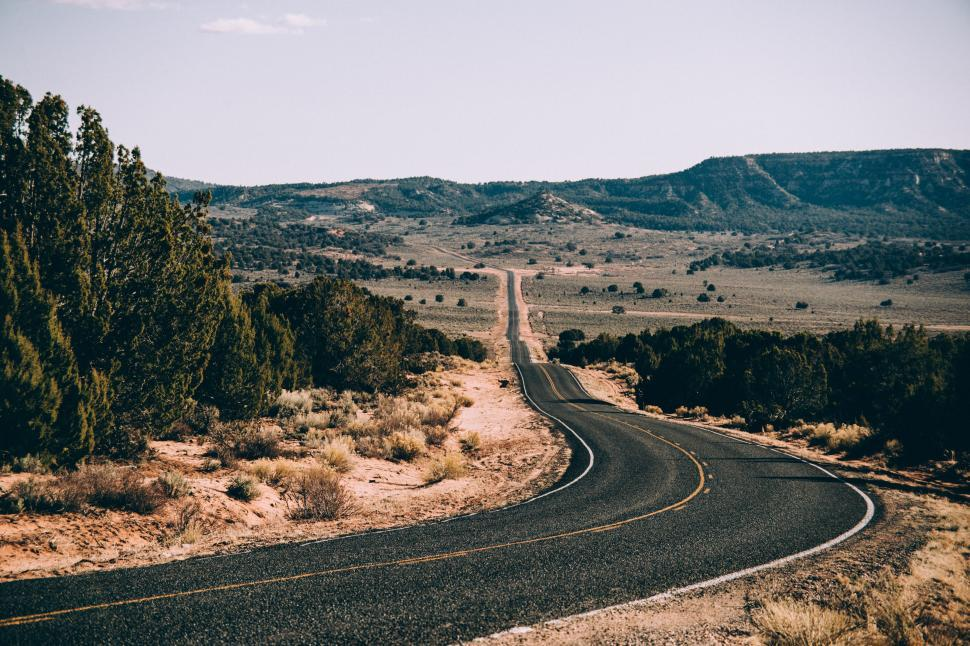 Download Free Stock HD Photo of A curvy Arizona highway Online
