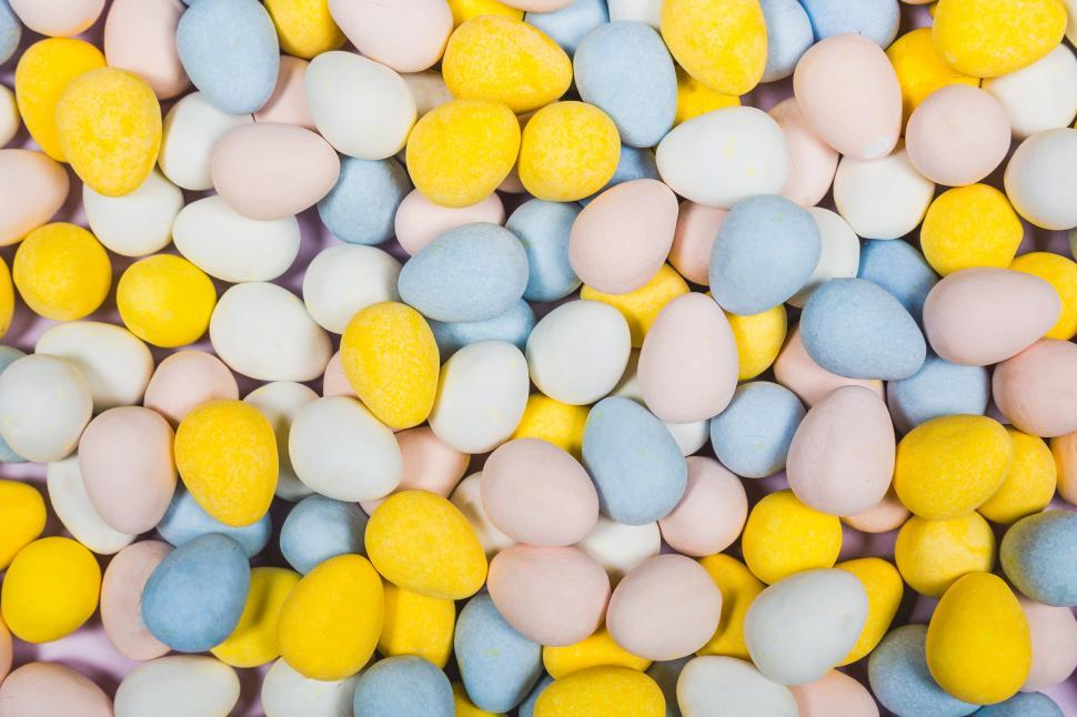 Download Free Stock HD Photo of Colorful Easter mini chocolate eggs Online