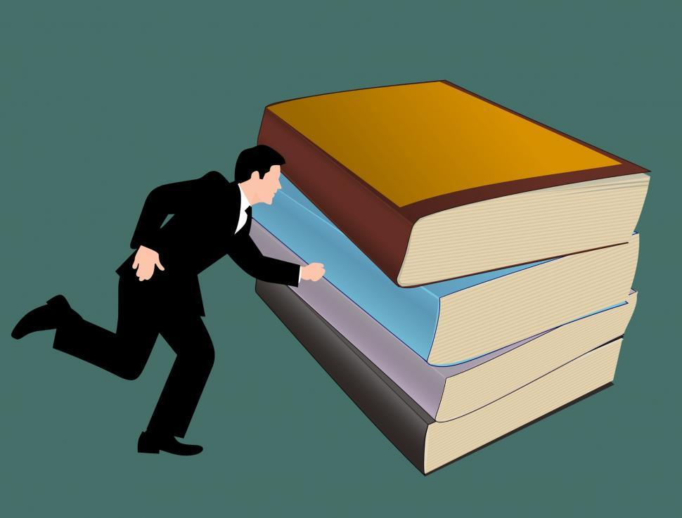 Download Free Stock HD Photo of man running to books  Online