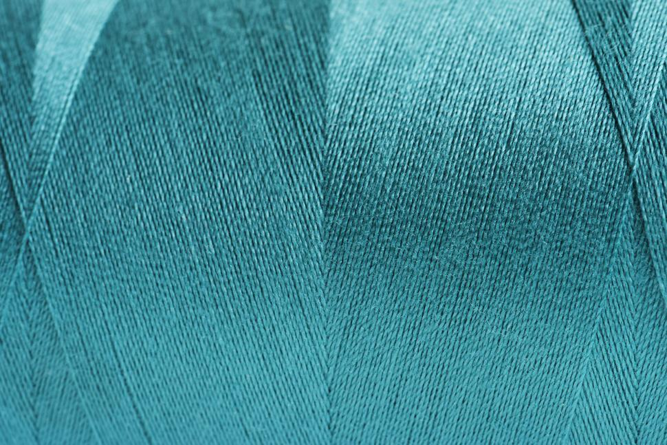 Download Free Stock HD Photo of Close-up of blue color thread texture Online