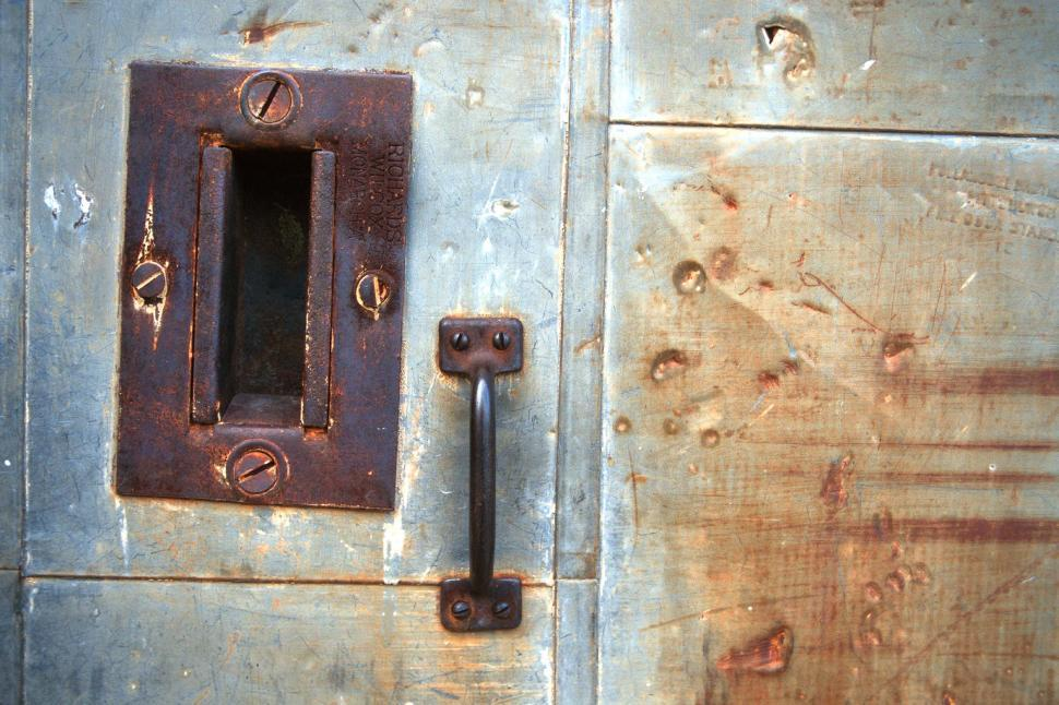 Download Free Stock HD Photo of Weathered metal handle Online