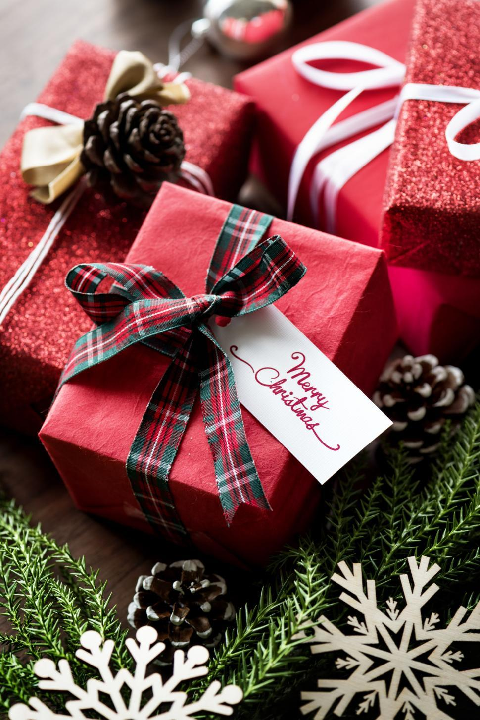 Get Free Stock s of Close up of Christmas t boxes