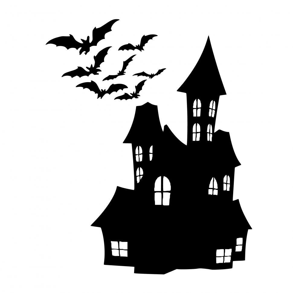 Download Free Stock HD Photo of Halloween house Silhouette  Online