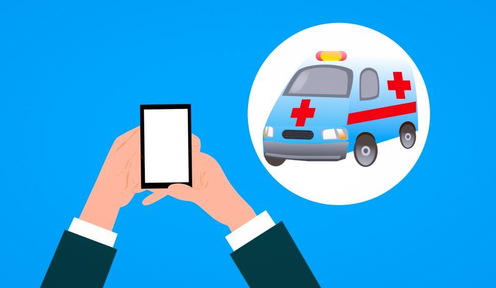 Download Free Stock HD Photo of contacting ambulance  Online