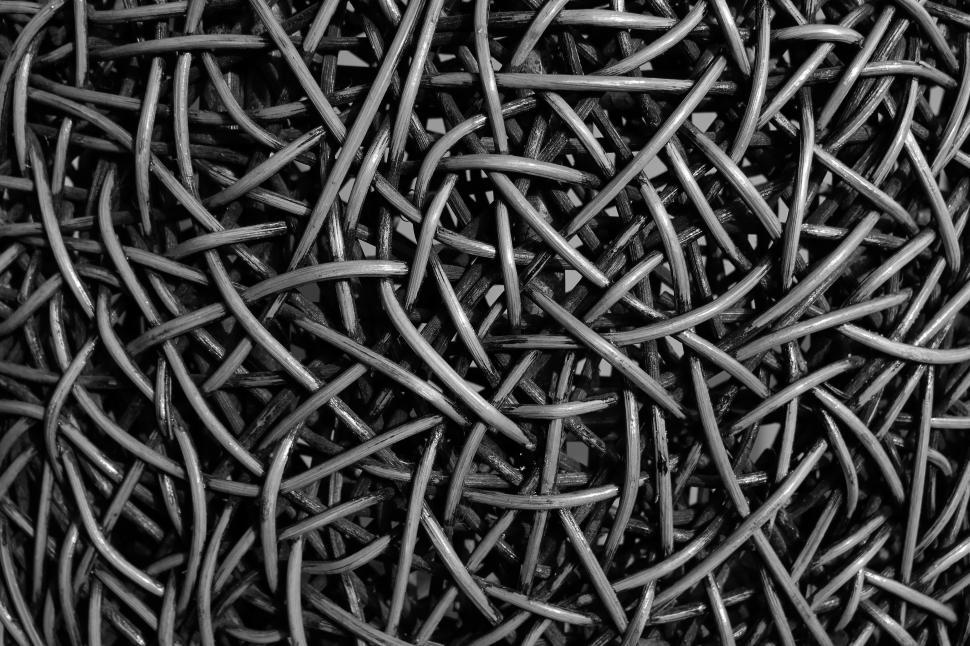 Download Free Stock HD Photo of Abstract Black and White Tangled Pattern  Online