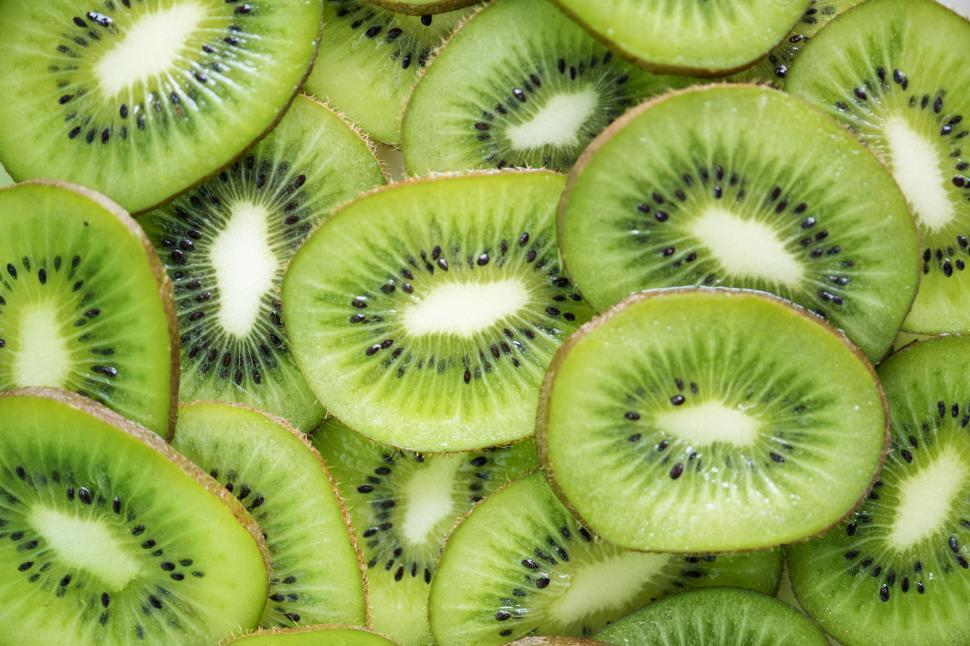 Download Free Stock HD Photo of Layer of kiwi slices Online