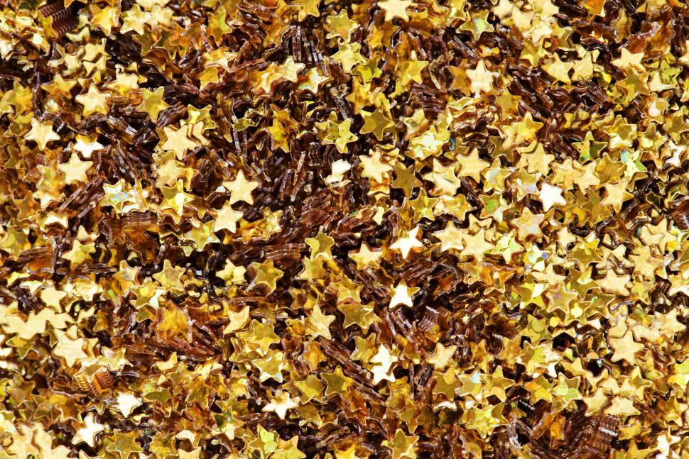 Download Free Stock HD Photo of Golden star shaped glitter sparkles Online
