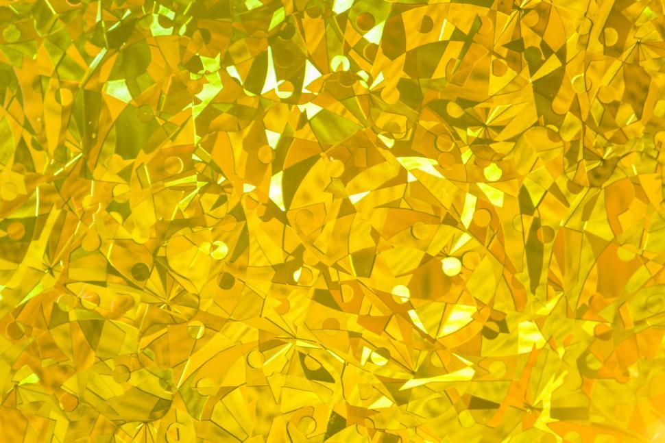 Download Free Stock HD Photo of Close up of abstract golden glass mosaic Online