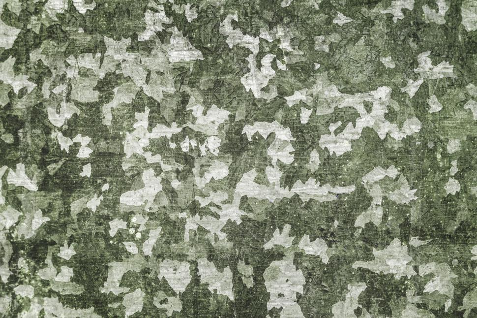 Download Free Stock HD Photo of green and white paint peeling off texture Online