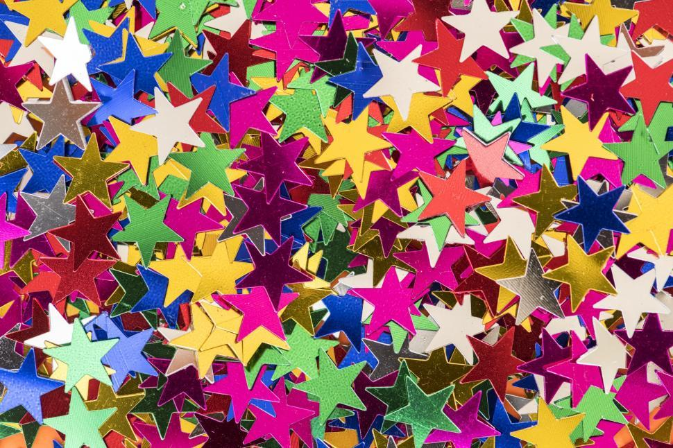 Download Free Stock HD Photo of Colorful star shaped confetti Online