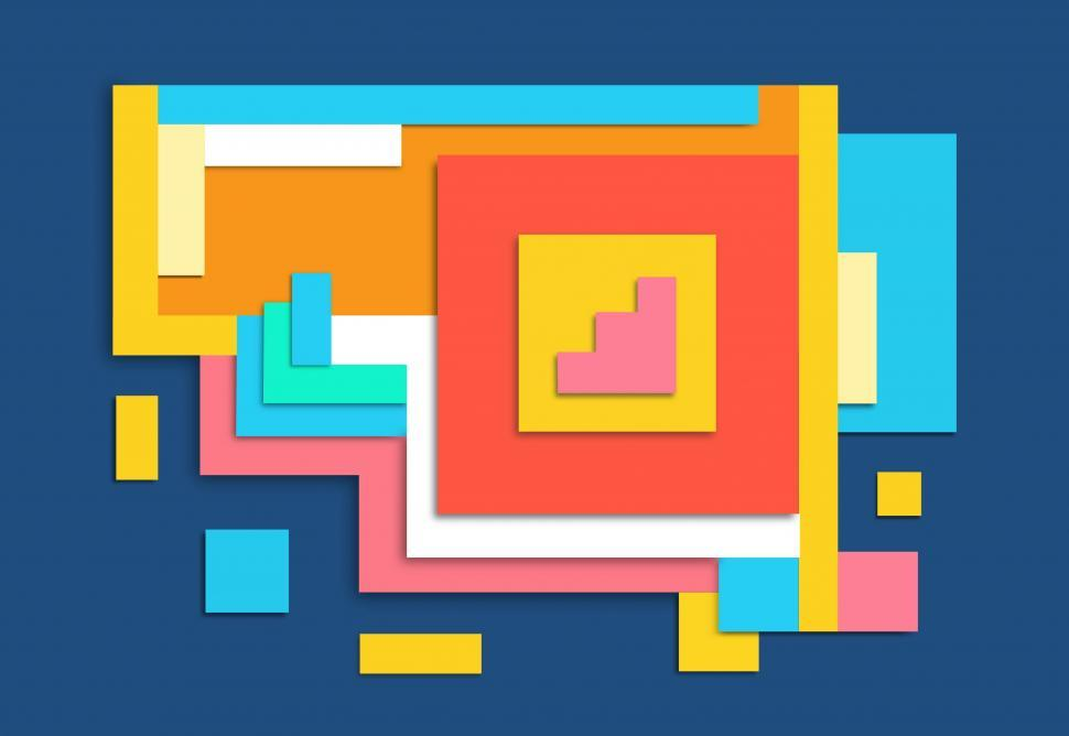 Download Free Stock HD Photo of Abstract Colorful Pattern - Squares and Rectangles  Online