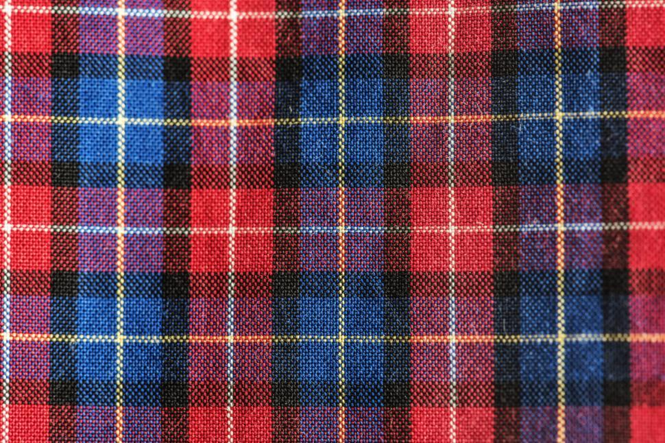 Download Free Stock HD Photo of Close up of tartan fabric Abstract Colorful Pattern - Squares and Rectangles Online