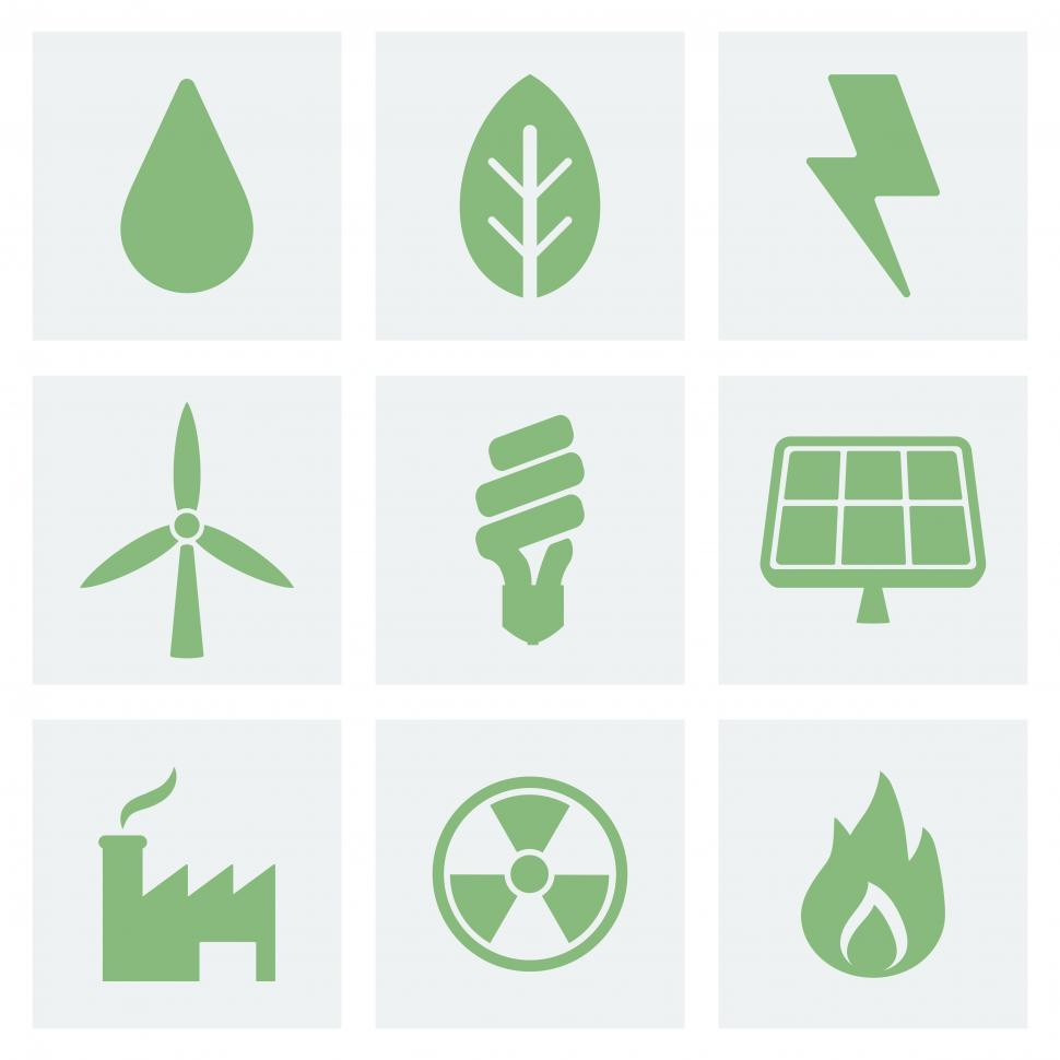Download Free Stock HD Photo of Various eco energy icons Online