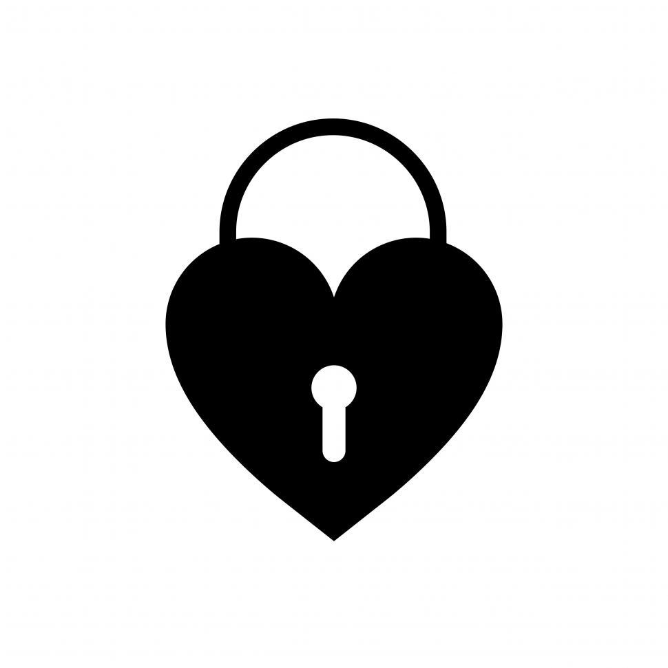 Download Free Stock HD Photo of Heart shaped lock vector icon Online