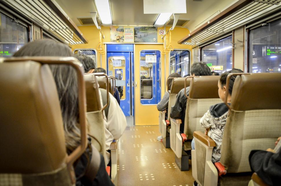 Download Free Stock HD Photo of Passenger Car in Japanese Train Online