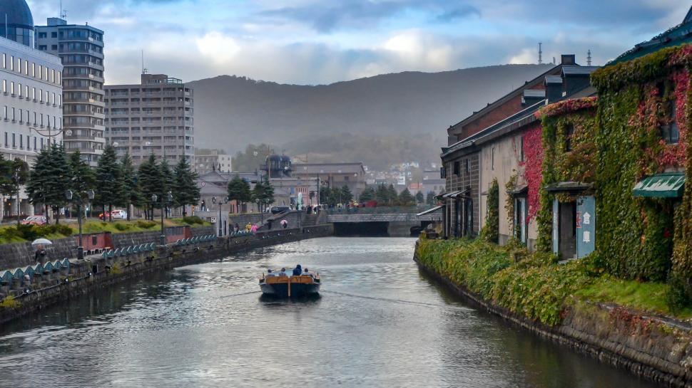 Download Free Stock HD Photo of River in Otaru City, Japan  Online