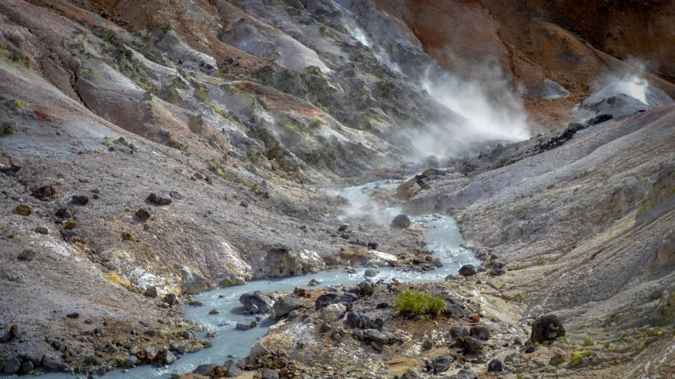 Download Free Stock HD Photo of Steaming Stream from Volcano in Japan  Online