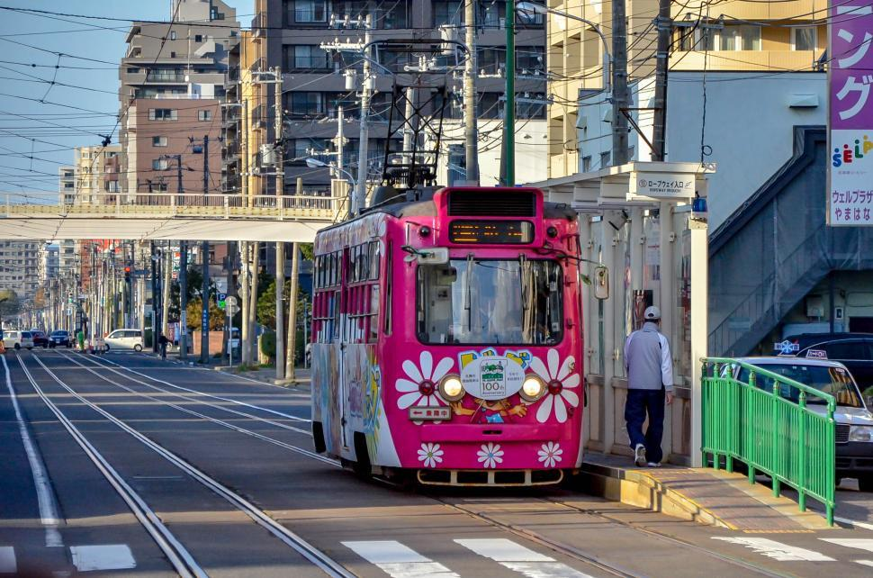 Download Free Stock HD Photo of Japanese Train in City  Online