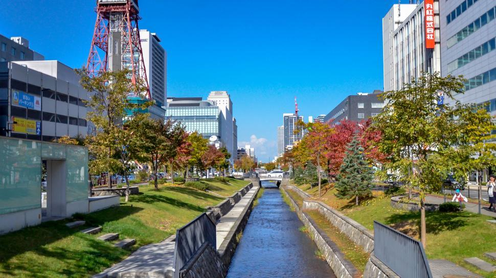 Download Free Stock HD Photo of Clean City Canal in Japan  Online