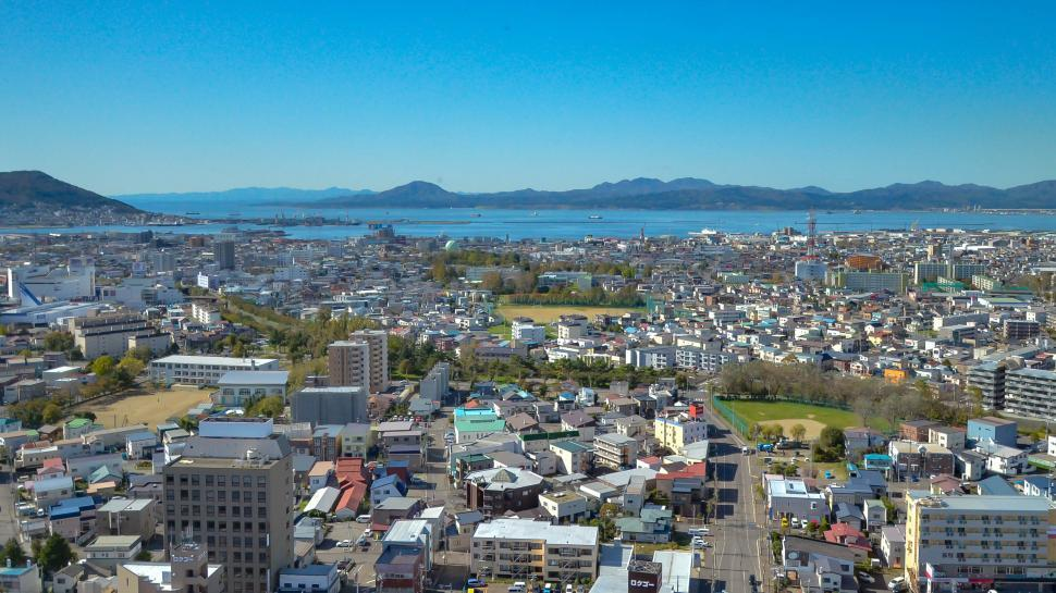 Download Free Stock HD Photo of City in Japan on Coast Online