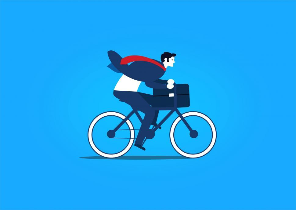 Download Free Stock HD Photo of Businessmen Riding a Bike Online