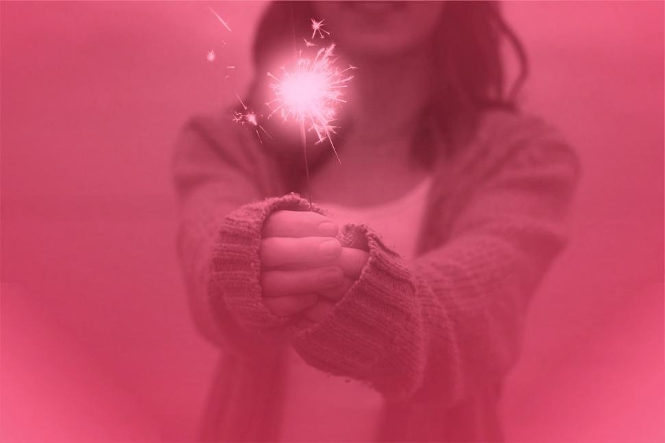 Download Free Stock HD Photo of Girl Holding Sparkler - Happiness and Joy Concept  Online