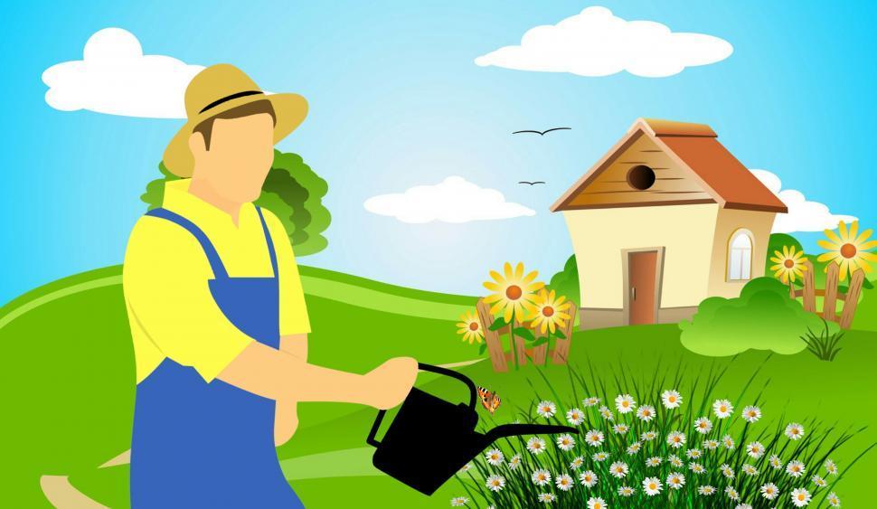 Download Free Stock HD Photo of farmer gardening  Online