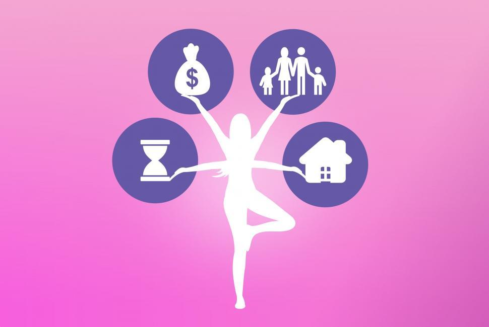 Download Free Stock HD Photo of Work Life Balance Concept - Fitness and Finance Alternate Online