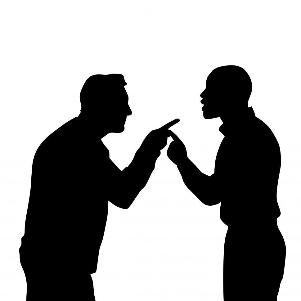 Download Free Stock HD Photo of argument Silhouette  Online