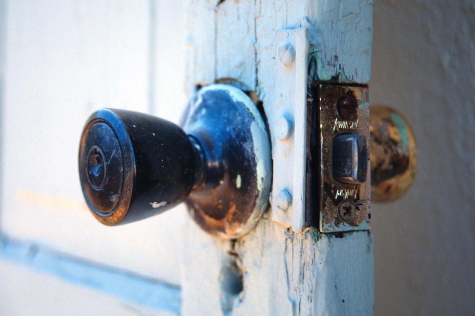 Download Free Stock HD Photo of Weathered door knob Online