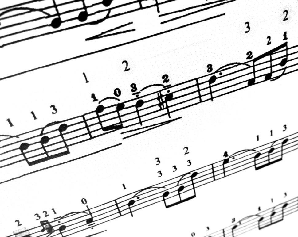 Get Free Stock Photos Of Sheet Music Notes In A Song Online