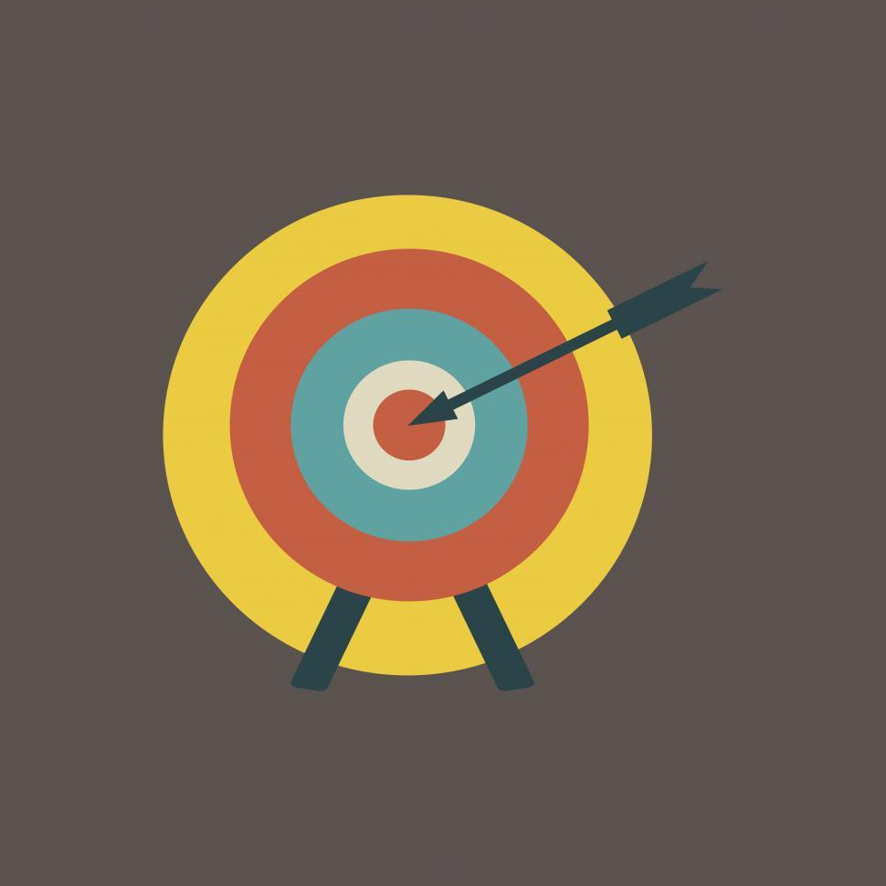 Download Free Stock HD Photo of Dartboard and arrow icon Online