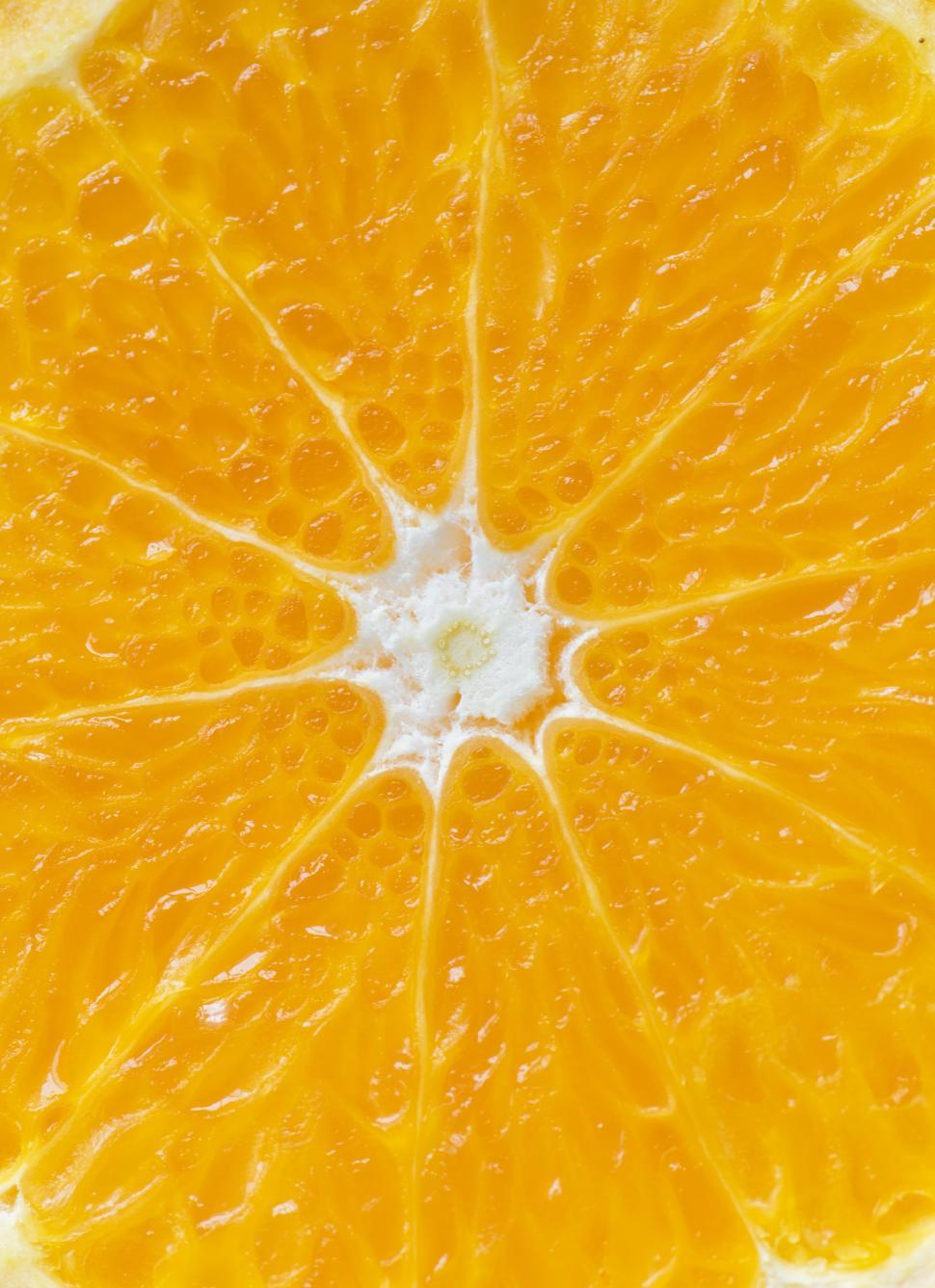 Download Free Stock HD Photo of Close up of a tangerine slice Online
