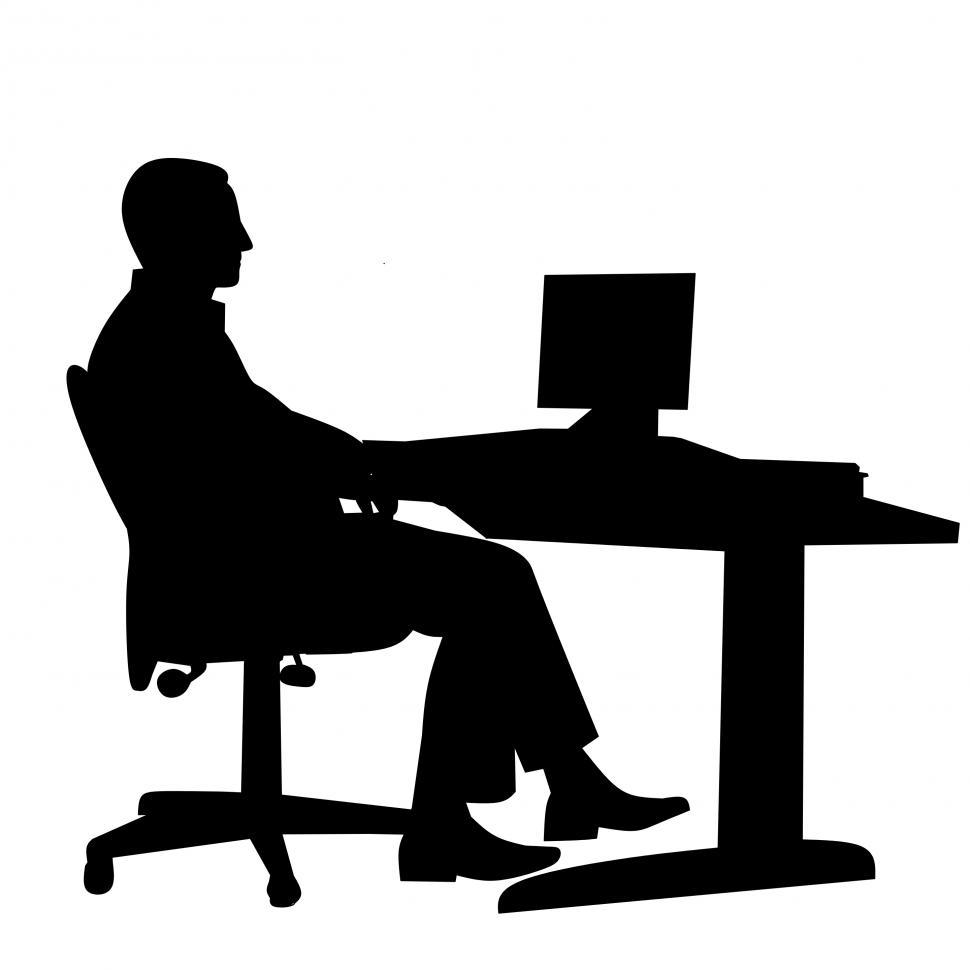 Free Stock Photo of Business man office silhouette Online ...